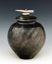 Burnished Saggar Fired Vessel 214 by Ron Mello (Ceramic Vessel)