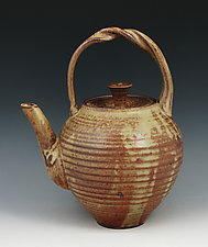 Wood Fired Stoneware Teapot #58 by Ron Mello (Ceramic Teapot)