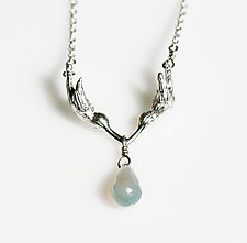 Kissing Hummingbird Necklace by Gillian Batcher (Silver & Stone Necklace)