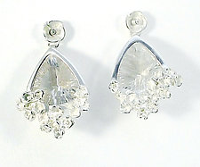 Trillium Ivy Earrings by Gillian Batcher (Silver & Stone Earrings)