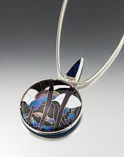 Convertible Cloisonne Enamel Pin/Pendant by Jan Van Diver (Enameled Necklace)