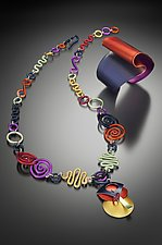 Multi-Colored Necklace & Cuff by Sylvi Harwin (Aluminum Jewelry)