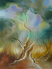 Tree, Dawn by Linda Jacobson (Acrylic Painting)
