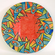 Deco Garden Platter by Rod  Hemming (Ceramic Platter)
