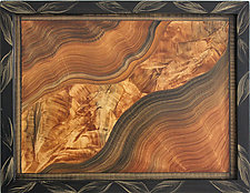 Burl Vine Border Tray by Ingela Noren and Daniel  Grant (Wood Tray)