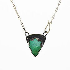 Turquoise Earth Pendant #1 by Susan Crow (Silver & Stone Necklace)