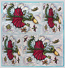Dragon Squad by Kim H. Ritter (Fiber Wall Art)