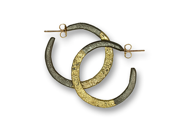 Steel and Hoop Earrings
