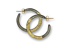 Steel and Hoop Earrings by Susan Ronan (Gold & Steel Earrings)