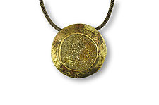 Galaxy Pendant by Susan Ronan (Gold, Steel, & Stone Necklace)