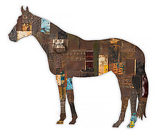 On the Ranch Collection (Horse) by Dolan Geiman (Mixed-Media Wall Sculpture)