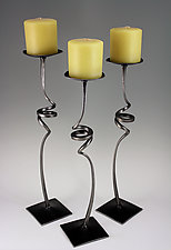 Swirl Candle Holders by Rob Caperell (Metal Candleholders)
