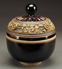 Black Lidded Tureen by Daniel  Bennett (Ceramic Vessel)