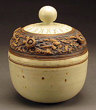 Creamy White Lidded Tureen by Daniel  Bennett (Ceramic Bowl)