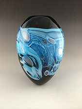 Blue Monday by Eben Horton (Art Glass Vase)