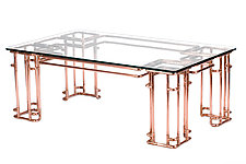 Metropolis Coffee Table by TJ Volonis (Metal Coffee Table)