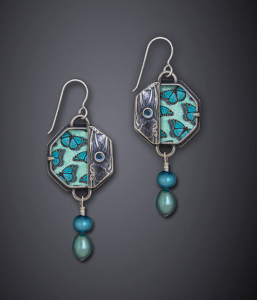 Blue Monarch Earrings