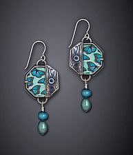 Blue Monarch Earrings by Dawn Estrin (Silver Earrings)