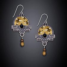 Buzzing Bees Earrings by Dawn Estrin (Silver Earrings)