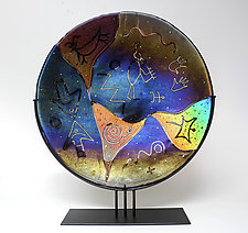 Petroglyph by Karen Ehart (Art Glass Sculpture)