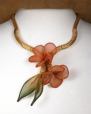 Plumeria Cluster Necklace by Sarah Cavender (Metal Necklace)