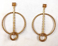 Large Kinetic Spinning Earring by Sarah Cavender (Metal Earrings)