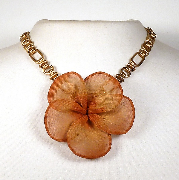 Large Plumeria Blossom Necklace
