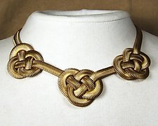 Triple Chinese Knot Necklace by Sarah Cavender (Metal Necklace)