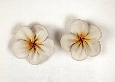 Plumeria Blossom Earrings by Sarah Cavender (Metal Earrings)