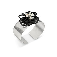Flower Power Cuff by Lonna Keller (Silver & Rubber Cuff)