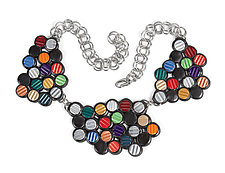 Corrugated Dots Reversible Necklace by Kathleen Nowak Tucci (Metal & Rubber Necklace)
