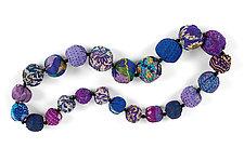 Silk Kantha Necklace by Mieko Mintz  (Silk Necklace)
