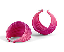 Pleated Hoops by Maria  Eife (Nylon Earrings)