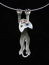 Hang In There Necklace by Lisa and Scott  Cylinder (Metal Necklace)
