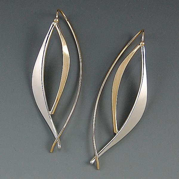 Forged Leaf Earrings
