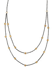 Double Baby Tab Chain by Alice Roche (Gold & Silver Necklace)