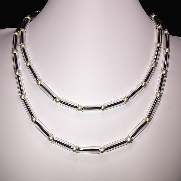 Clear Tube Bead Necklace