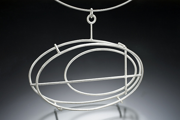 Large Structural Oval Necklace