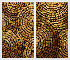 Gold Medallions by Tim Harding (Fiber Wall Art)
