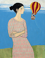 A Very Big Woman by Brian Kershisnik (Giclee Print)