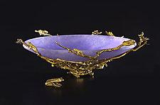 Frog Bowl by Georgia Pozycinski and Joseph Pozycinski (Art Glass & Bronze Sculpture)