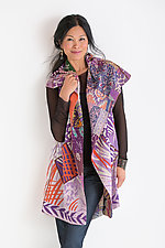 Patched Print Circular Vest by Mieko Mintz (Cotton Vest)
