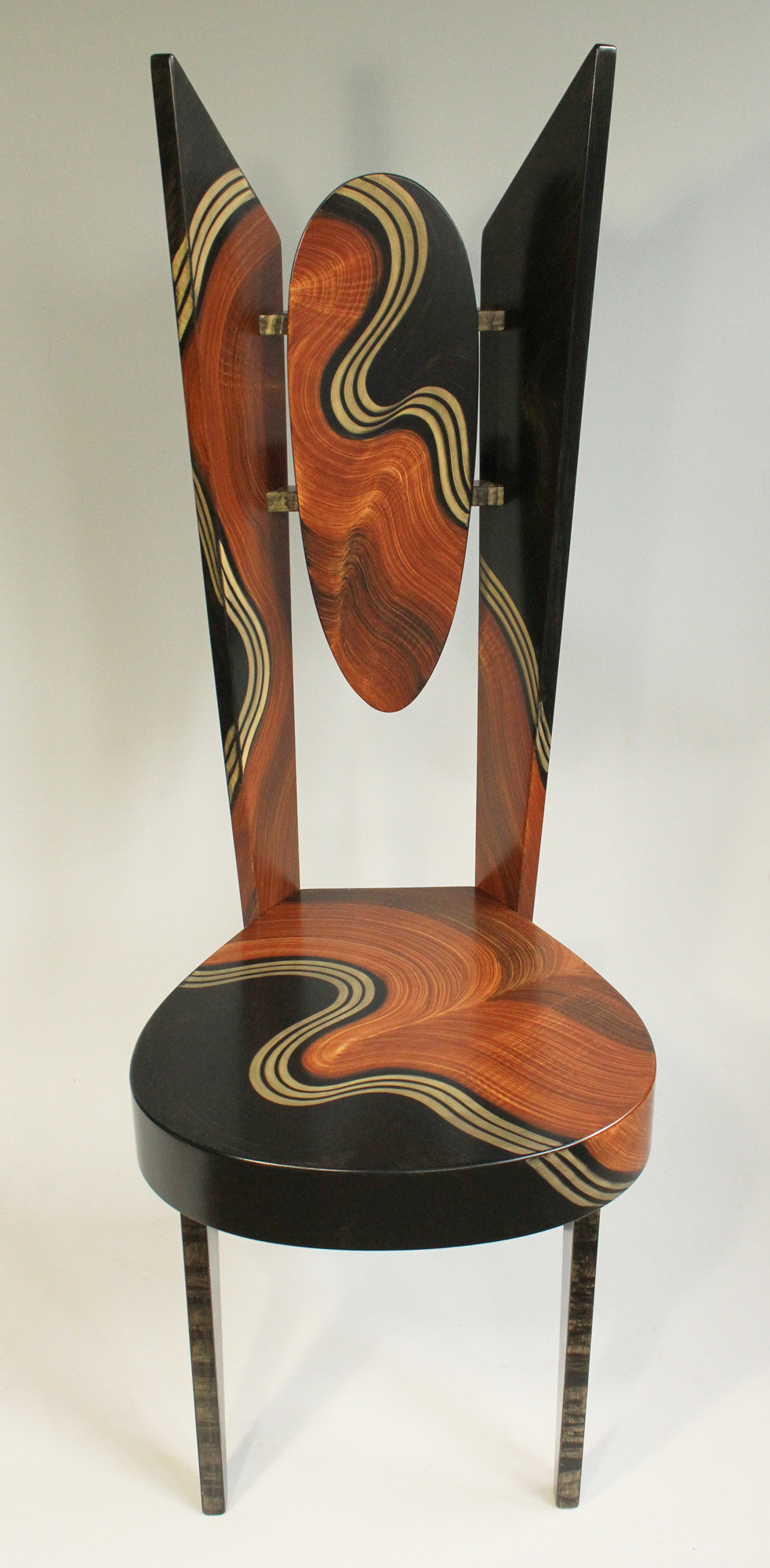 Burl Swirl Wing Chair