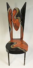 Burl Swirl Wing Chair by Ingela Noren and Daniel  Grant (Wood Chair)
