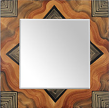 Arizona Square Mirror by Ingela Noren and Daniel  Grant (Wood Mirror)