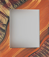 Tiger River Beveled Mirror by Ingela Noren and Daniel  Grant (Wood Mirror)
