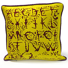 Alphabet Ballet by Laura Goldstein (Silk Pillow)