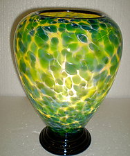 Yellow and Green Lamp by Curt Brock (Art Glass Table Lamp)