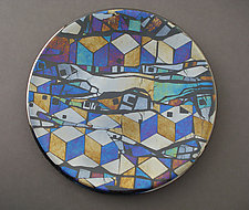 Geo Night by Sabine  Snykers (Art Glass Platter)