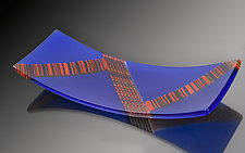Tippa Plate in Cobalt by Martin Kremer (Art Glass Plate)
